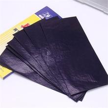 100 шт./кор. 48K синий тафарет углеродный переводная бумага двухсторонняя ручная профессиональная копировальная машина отслеживание гектографа Repro 8,5x18,5 см