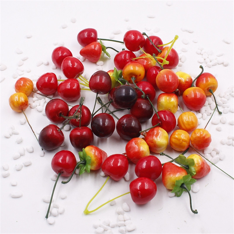 5 pieces batch of artificial fruit and vegetable flower for Artificial fruit for decoration