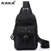 2017 Designer KAKA Marke Wasserdicht Männer Messenger Bags Frauen Brust Pack Männlichen Umhängetasche Modefunktions Schwarze Handtasche