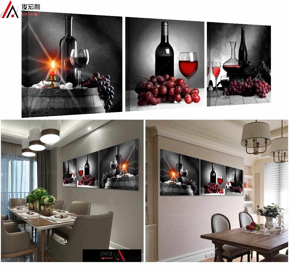 3 Piece Modular Pictures On The Wall For The Kitchen Posters And Prints Of Painting Work Modern Canvas Art Oil Paintings