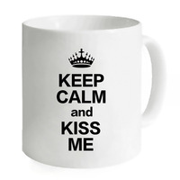 Teacher Coffee Mug Keep Calm And Kiss Me Tea Milk Mug Water Cups 11oz Custom Big