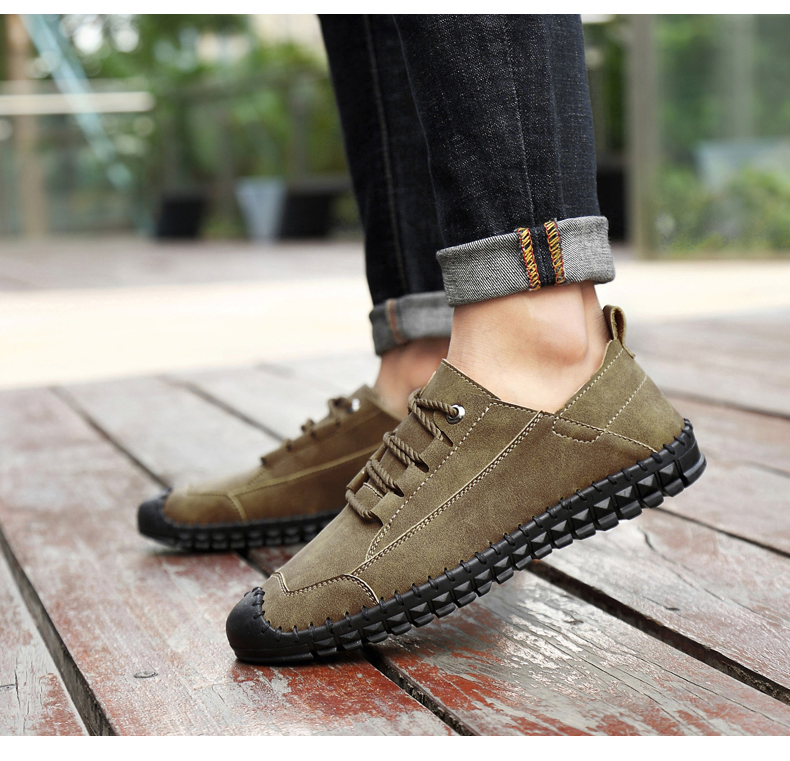 HTB1zVxaayfrK1RjSspbq6A4pFXai - 2019 New Fashion Leather Spring Casual Shoes Men's Shoes Handmade Vintage Loafers Men Flats Hot Sale Moccasins Sneakers Big Size
