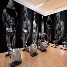 Gym bodybuilding boxing fitness bar background wall professional making murals wholesale wallpaper custom poster photo