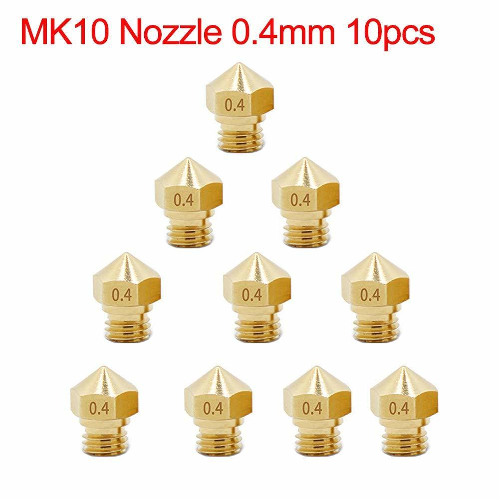 8Pcs M7 Brass Extruder Head Hotend Nozzles 0.2 Aokin MK10 Nozzle for 3D Printer