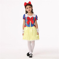 Children Movie Fairy Tale Snow White Girls Dress Cosplay Costumes Set Holiday Dance Party Performance Wear