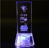 Flash đồ trang trí pha lê thiên thần hoa hồng glass thủ công mỹ nghệ 3D tinh thể tia laser điêu khắc valentine quà tặng trang trí nội thất