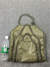 Army Green Three SIZE 18/25/37cm Shaggy Deer PVC High quality luxury heavy chain bag Fashion Fold-Over toe