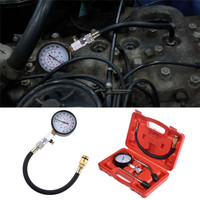 1set G324B Petrol Gas Engine Cylinder Compressor Air Gauge Tester Automotive Pressure Gauge Car Diagnostic Repair