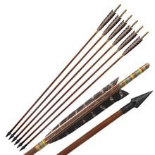 ArrowsEagle の羽ロング弓/反らすの弓の狩猟アーチェリー ピース/ロット手作り竹 20-70Lbs