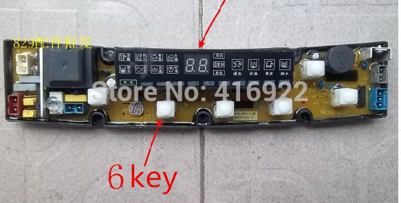 Free shipping 100%tested for Mitsubishi washing machine board NCXQ-QS07-2J(N) QS07-2 control board on sale free shipping 100% tested for washing machine board konka xqb60 6028 xqb55 598 original motherboard ncxq qs01 3 on sale