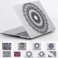 Nova moda presente para as meninas Crystal Clear impressão black Lace flor caso do portátil para Apple MacBook Pro 13 15 Retina Air 11 13