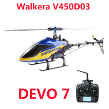 Original Walkera V450D03 With Devo 7 Transmitter 6CH 3D 6-axis-Gyro Flybarless RC Helicopter With Battery and Charger RTF