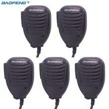 5 adet orijinal Baofeng UV5R el mikrofonu hoparlör MIC Baofeng taşınabilir radyo UV 5R BF 888S BF UVB3 artı Walkie Talkie