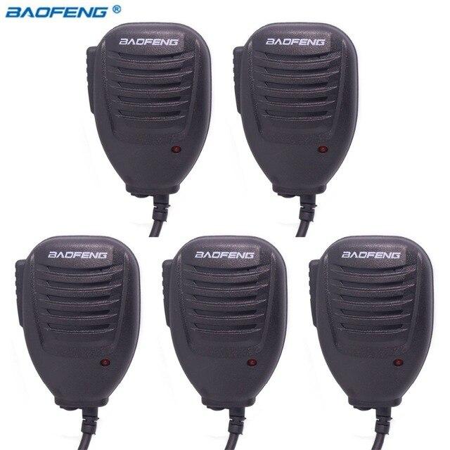 5個オリジナルbaofeng UV5RハンドマイクスピーカーマイクbaofengポータブルラジオUV 5R BF 888S BF UVB3プラストランシーバー