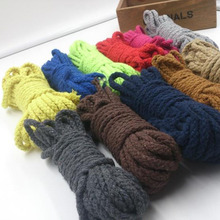 Hot !!! 8mm 80yards/lot DIY Handmade 100% Cotton Rope Woven Cord/String for Diy Accessories Bag Craft Projects 9 color