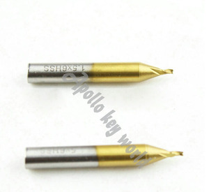 Image 1 - 1.5mm Drill Titanized End Mill Milling Key Cutter For Vertical Key Machine,Titanium Milling Cutter