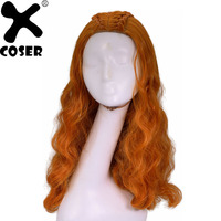 XCOSER Game of Thrones Sansa Stark Cosplay Headwear Props Women Beautiful Long Curly Wavy Hair Party Movie Costume Accessories