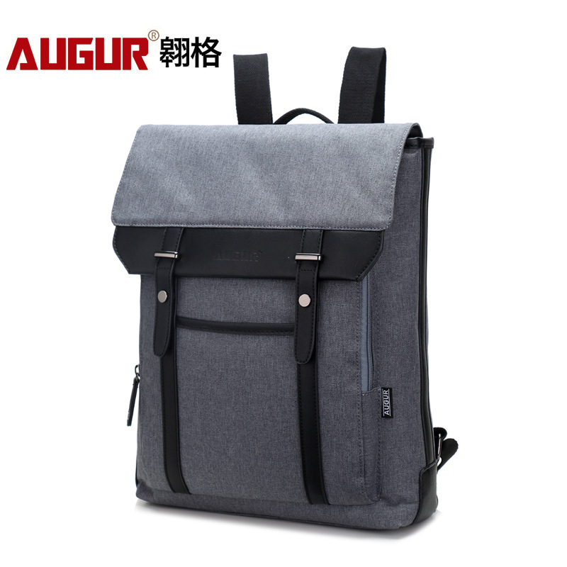 Slim laptop backpack Business Lightweight Nylon Water Resistant Multipurpose Shoulder Notebook backpack up to 15inch light Grey oiwas 19 6l laptop business backpack lightweight water resistant travalling backpack solid color two colors for male