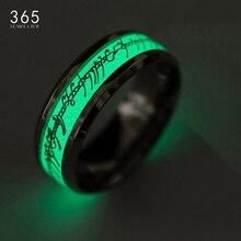 """Новое кольцо """"Властелин одного"""" из нержавеющей стали, флуоресцентные светящиеся кольца с логотипом для женщин, модные ювелирные изделия, Прямая поставка"""