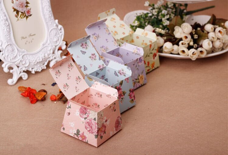 Candy Box Bag Chocolate Paper Gift Box Small Flower Grace For Birthday Wedding Party Decoration Craft Diy Favor Baby Shower Wh
