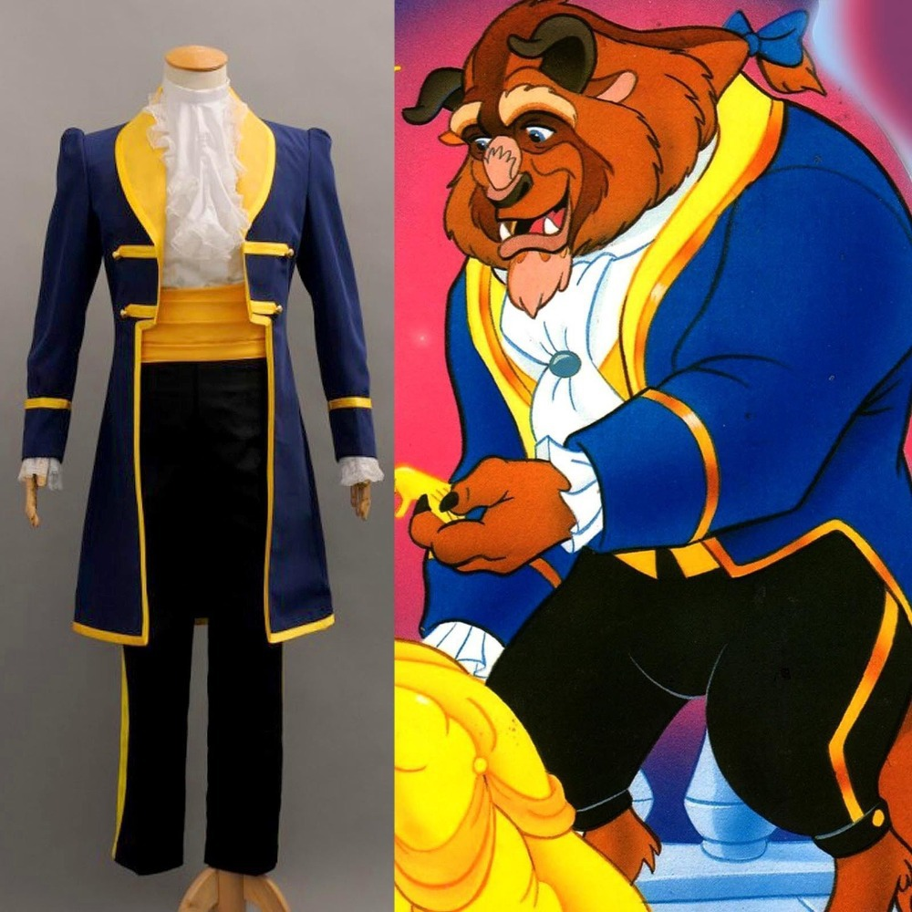 NEW Beauty and the Beast Prince Adam Cosplay Costume XXS-XXXL aacept custom order