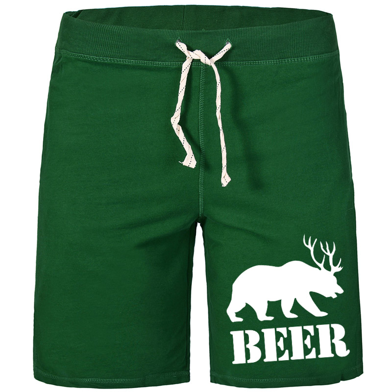 US Man Shorts Bear & Beer style classics breathable solid 100% Z Cotton Best selling with pockets(China)