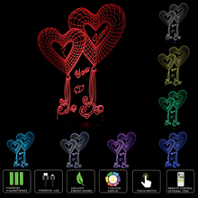 3D illusion bulbing Night 7 Color change Touch Switch Love Rose Lamp LED Light 3D LED Touch Swich Lamp