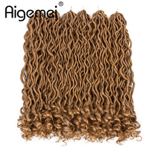 Aigemei 18 Inch 70g Synthetic Hair Extensions Crochet Braiding Goddess Locs For Women