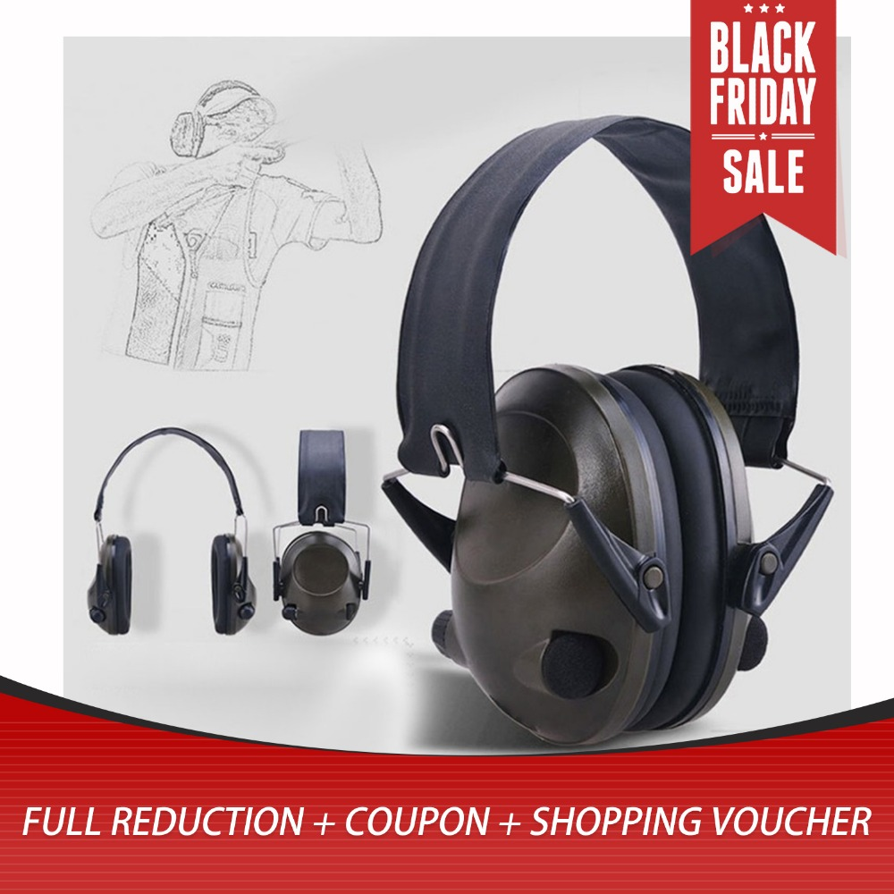 Shooting Earmuff Tactical Anti-noise Headphones For Hunting Sport TAC 6s Canceling Electronic Earmuffs Ear Protection