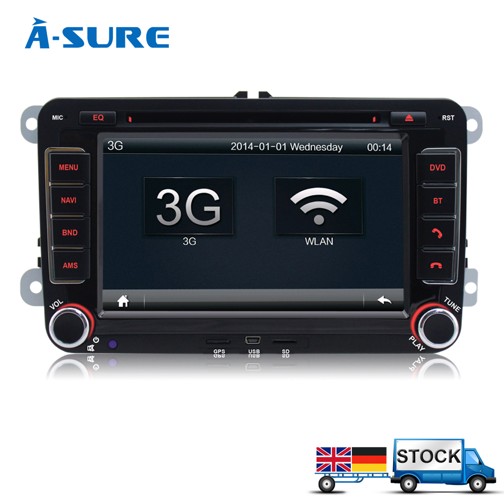 A Sure 7\ Car Radio Stereo Satnav Bluetooth Usb Ops Dvd Gps For Vw Rhaliexpress: Vw Volkswagen Golf Mk5 Radio At Gmaili.net