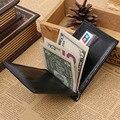 Homens Grampo do Dinheiro Carteira de couro Estilo Simples Janela Da Foto Do Cartão de Crédito money clip purse homem Garantia de Qualidade