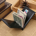 Leather Money Clip Wallet Men Simple Style Photo Window Credit Card money clip purse man Quality Assurance