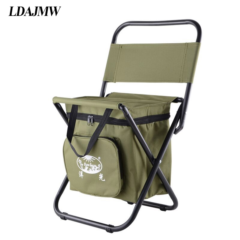 LDAJMW Multifunctional Beach Backrest Chair Ice bag Thermos bag Fishing Stool Outdoor leisure Chair Travel Storage