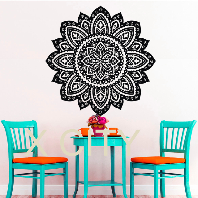 Wall Decals Buddha Yoga Mandala Pattern Oum Om Sign Decal Vinyl Sticker  Home GYM Office Decor Part 58