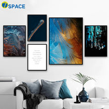 Pier Feather Abstract Quotes Nordic Posters And Prints Wall Art Canvas Painting Landscape Wall Pictures For Living Room Decor(China)