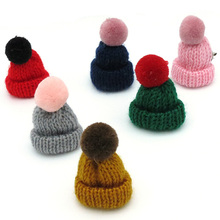 New 1PC 9 Colors Lovely Pompon Mini Wool Hat Nip Brooch Pins Badge Brosche Cute Pumpon Small Cap Corsage Pins Broche Broohe(China)