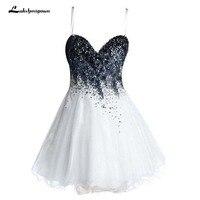 Короткие вечерние платья Милая Мини Тюль Homecoming платья с Бисер сладкий 16 платье вечерние платье