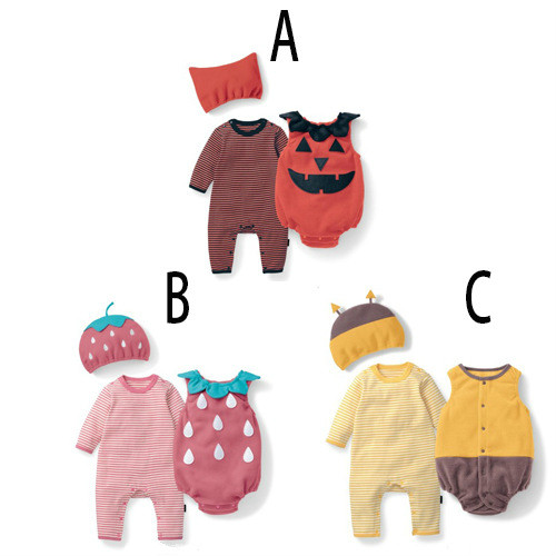 Hooded Baby Rompers Halloween Pumpkin Top Quality Cotton Long Sleeve Three Pieces Spring Autumn Kwaii Halloween Costume for Kids ...