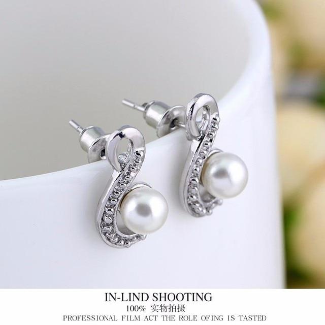 Набор ювелирных изделий из белого искусственного жемчуга ожерелье