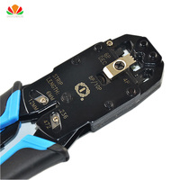 "PROF Multifunctional TL-200r ethernet cable modular crimping pliers strippers 10p10c 8P8C 6P4C 8"" more in one modular tools"