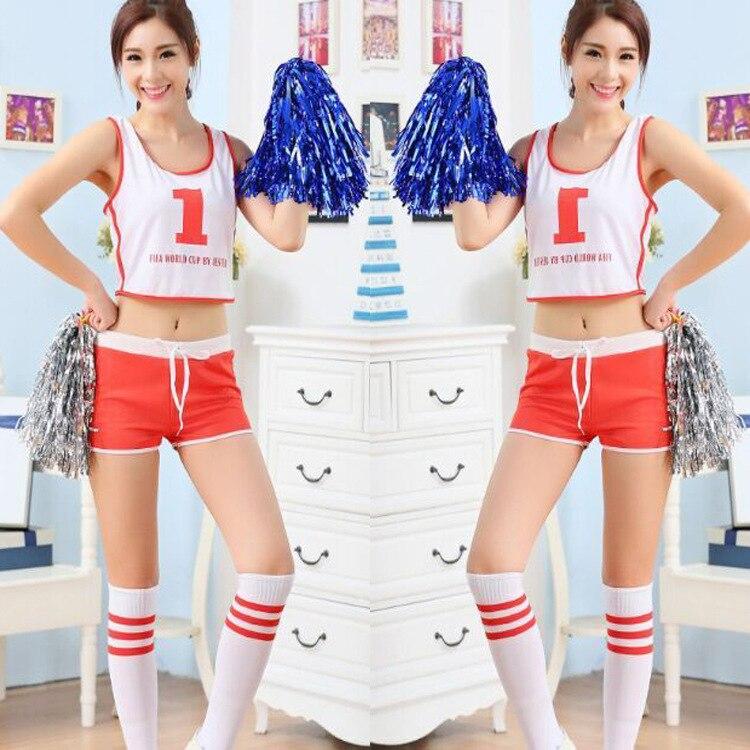 Students Cheerleader Performance Suits Girls Dancing Costume Competition Game Racing Dance Costumes Cheerleading Uniforms School