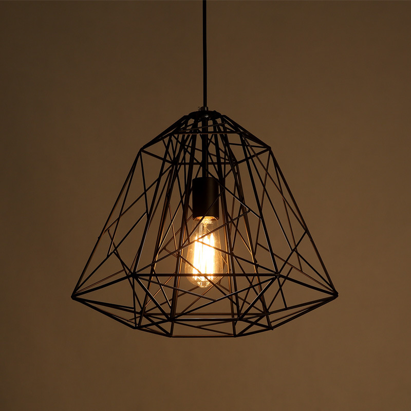 D40cm Bird Cage Retro Indoor Lighting Vintage Pendant Light LED lights Industrial Lofter Style Light Fixture E27 Edison WPL109 retro indoor lighting vintage pendant light led lights industrial metal cage iron lampshade warehouse style light fixture bar