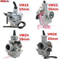 Haute Performance Mikuni VM16 22 24 26 carburateur 19mm 26mm 28mm 30mm carburateur pour 110cc à 250cc saleté Pit Bike ATV Quad moto