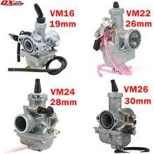 Carburador mikuni vm16 22 24 26, de alto desempenho, 19mm, 26mm, 28mm, 30mm, carb para 110cc to 250cc dirt pit bike atv quad motocicleta,