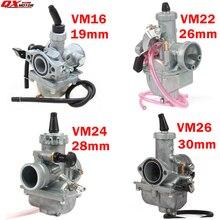 Mikuni carburateur haute Performance VM16, 22, 24, 26, 19mm, 26mm, 28mm, 30mm, pour motocross, Quad, vtt, vtt, Quad, 110cc à 250cc