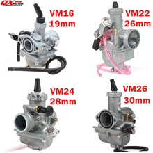 高性能ミクニ VM16 22 24 26 キャブレター 19 ミリメートル 26 ミリメートル 28 ミリメートル 30 ミリメートル炭水化物 110cc に 250cc ダートピットバイク Atv