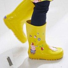 3eac058683e65 الأطفال أحذية المطر طفلة الصبي الاطفال محايد للجنسين المطاط الأحذية المياه  الأحذية المضادة للانزلاق الكرتون الكرتون