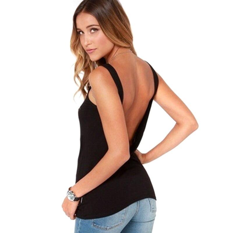 2018 New Arrival Summer Women Sexy Sleeveless Backless Shirt   Tank     Top   Blouse Vest   Tops   Tshirt