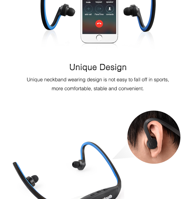Wireless Bluetooth Earphones with Microphone Neckband Headphones for Mobile Phone Sweatproof Bluetooth Headset for Xiaomi iPhone (5)
