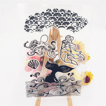 JC Rubber Stamps for Scrapbooking Ocean Goddess Spray Silicone Seals Craft Stencil Album Clear Paper Card Making Template